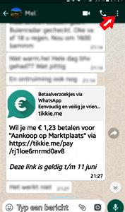 Tikkie WhatsApp-betaalverzoek